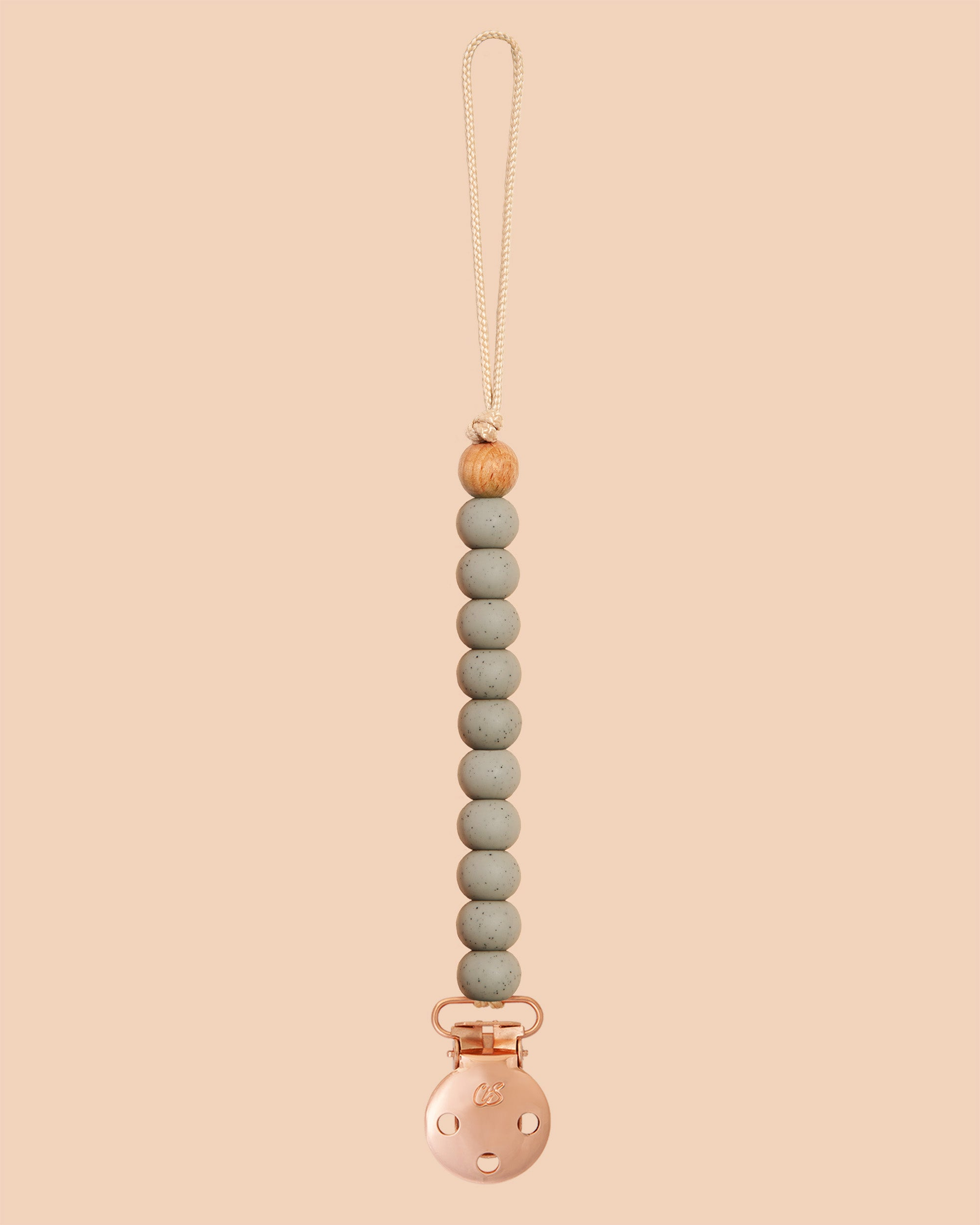 Concrete Speckled Sienna Dummy Clip in Rose Gold