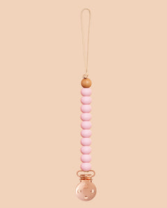Baby Pink Sienna Dummy Clip in Rose Gold