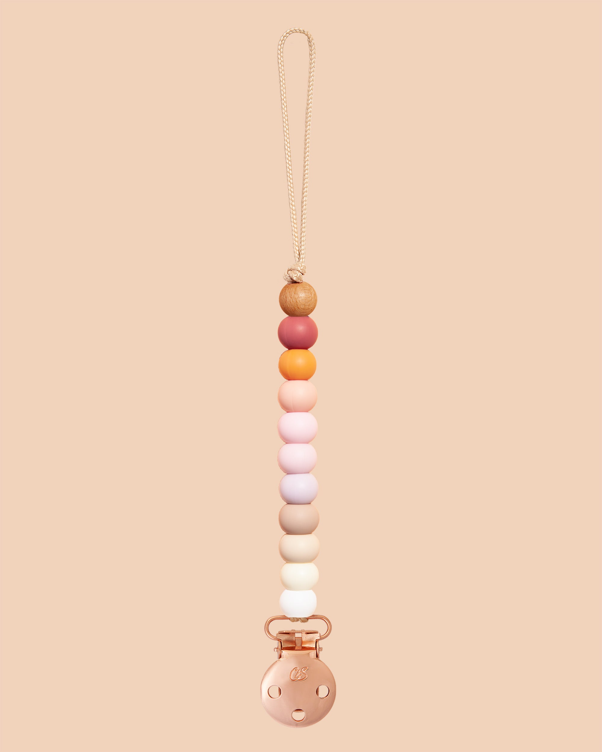 Muted Rainbow Sienna Dummy Clip in Rose Gold