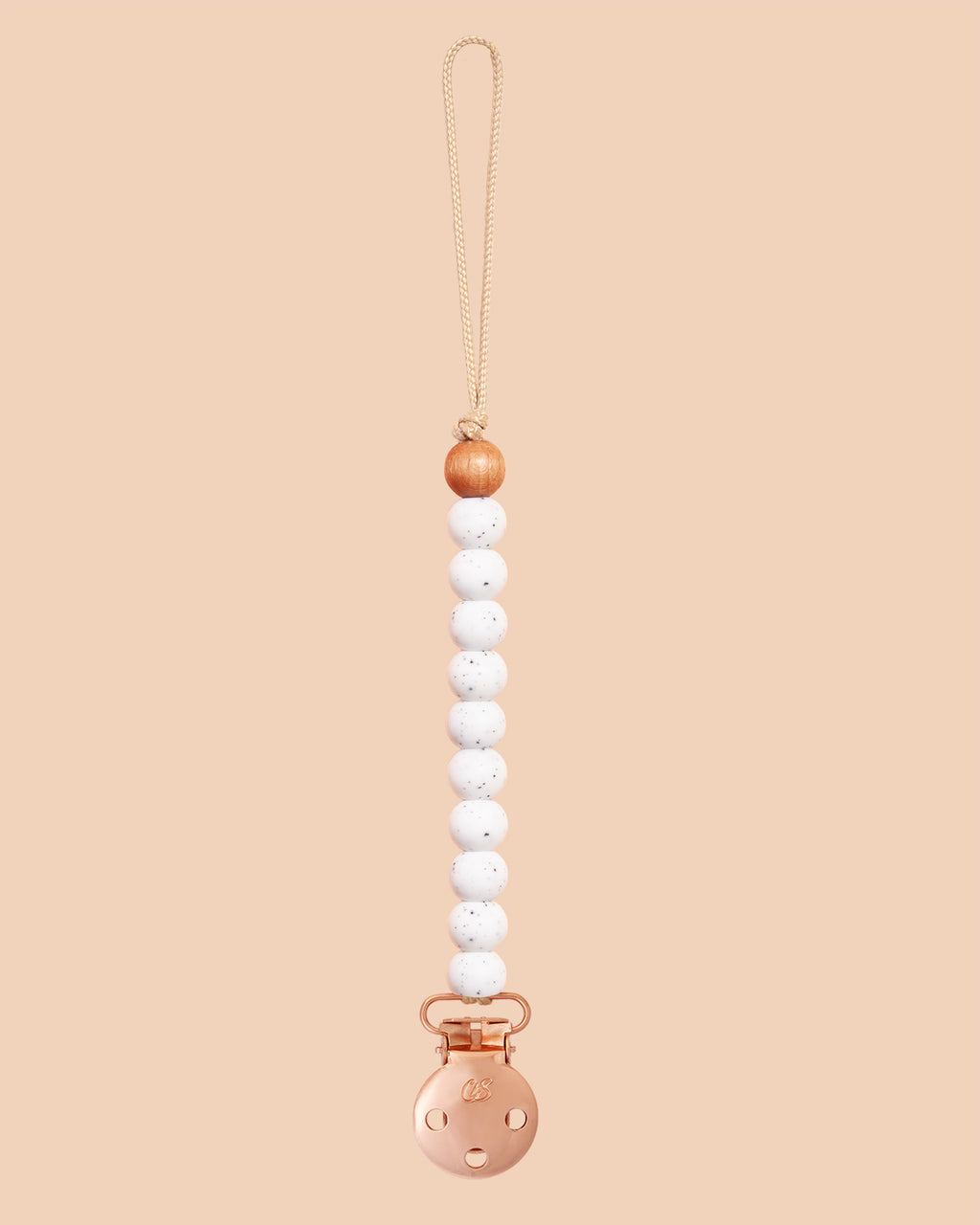 Speckled Sienna Dummy Clip in Rose Gold