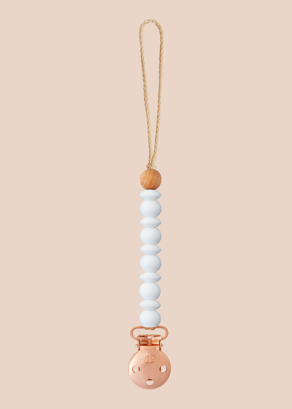 Luna White Dummy Clip in Rose Gold
