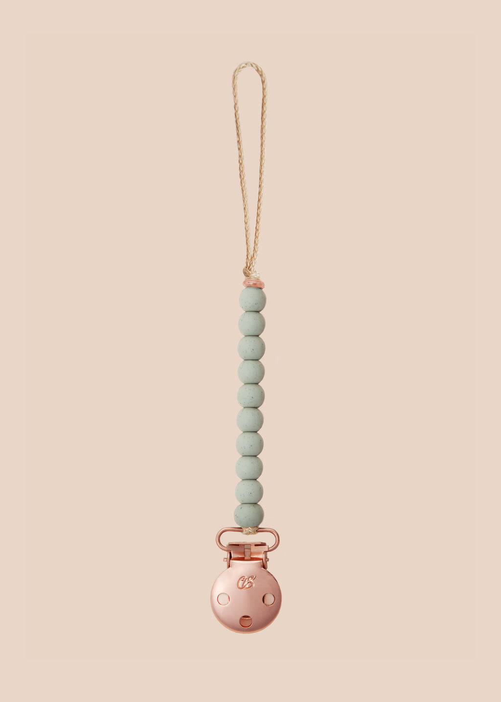 Luxe Concrete Speckled Dummy Clip in Rose Gold