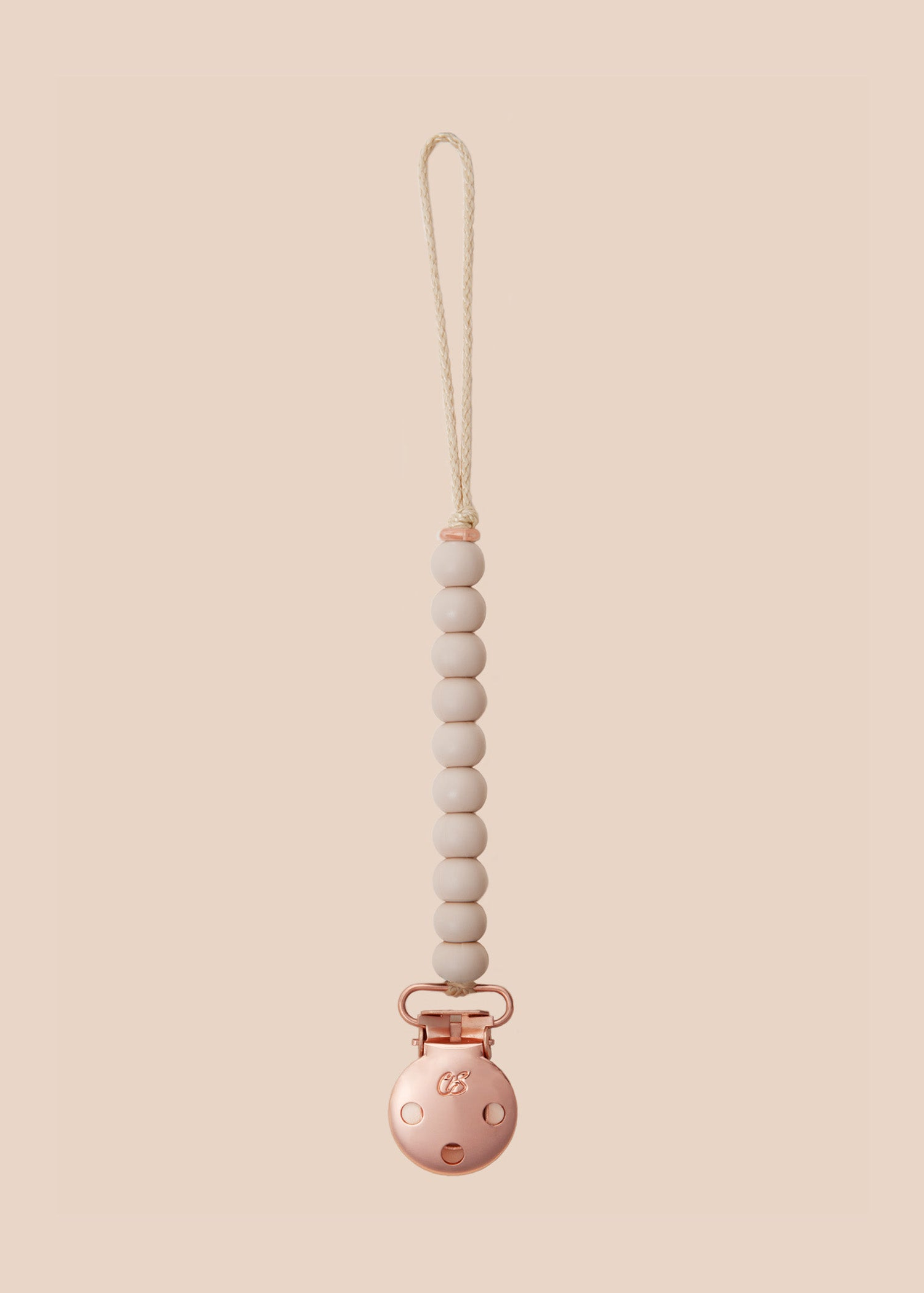Luxe Oatmeal Dummy Clip in Rose Gold