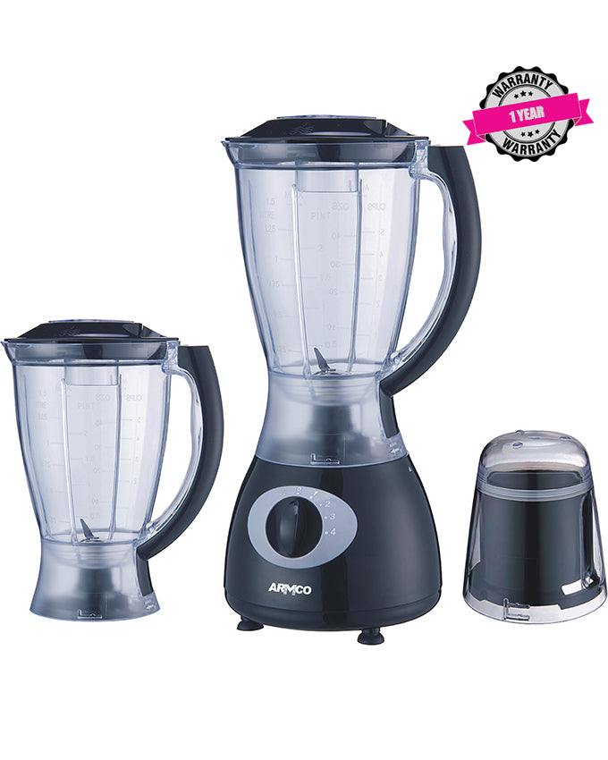 ABL-395ECO, 1.5L  Blender - Black & Silver
