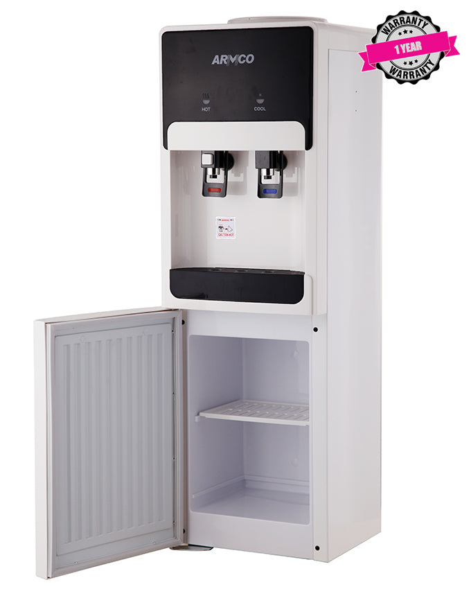 ARMCO Water dispenser AD-17FHC(W) in Kenya 16L Water Dispenser, Hot & Compressor Cooling Cold, White