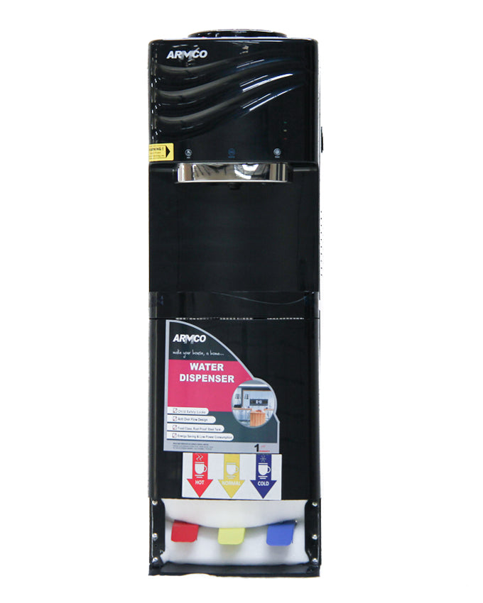 ARMCO AD-17FHNC-PED(BK) - 16L 3 Tap Water Dispenser, Hot, Normal & Cold - Foot Pedal Press, Black.