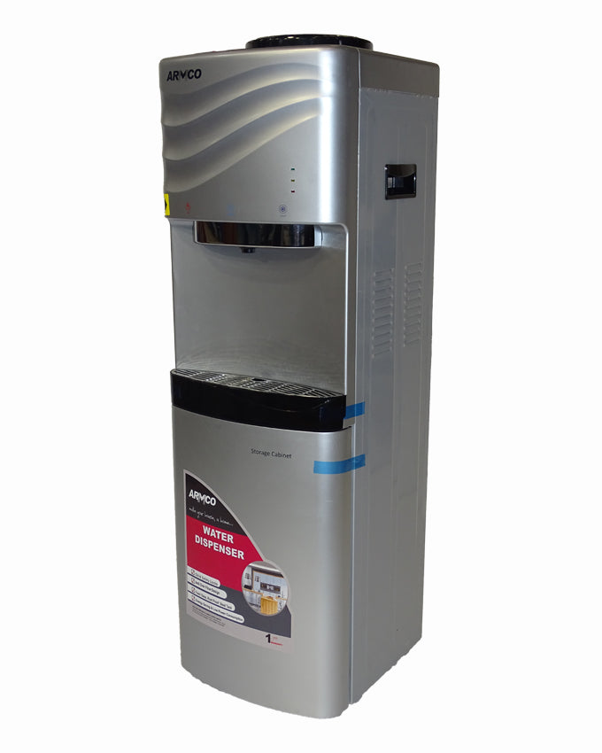 ARMCO AD-17FHNC(S) - 16L 3 Tap Water Dispenser, Hot, Normal & Cold, Silver.