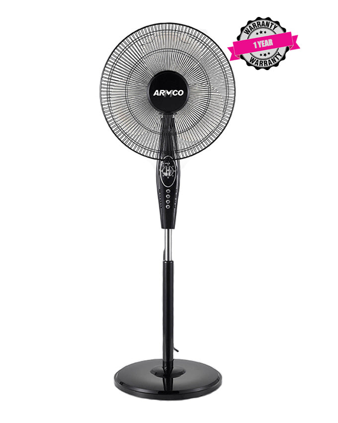 "ARMCO AFS-16AS2 - 16"" Round Base Stand Fan (Black)"