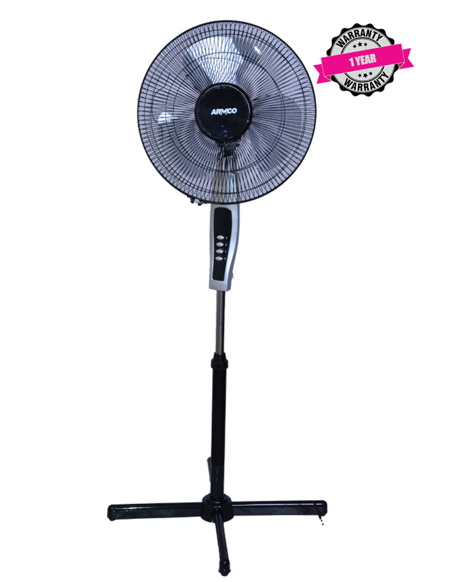 "ARMCO AFS-16AX - 16"" Cross Base Stand Fan (Black & Silver)"