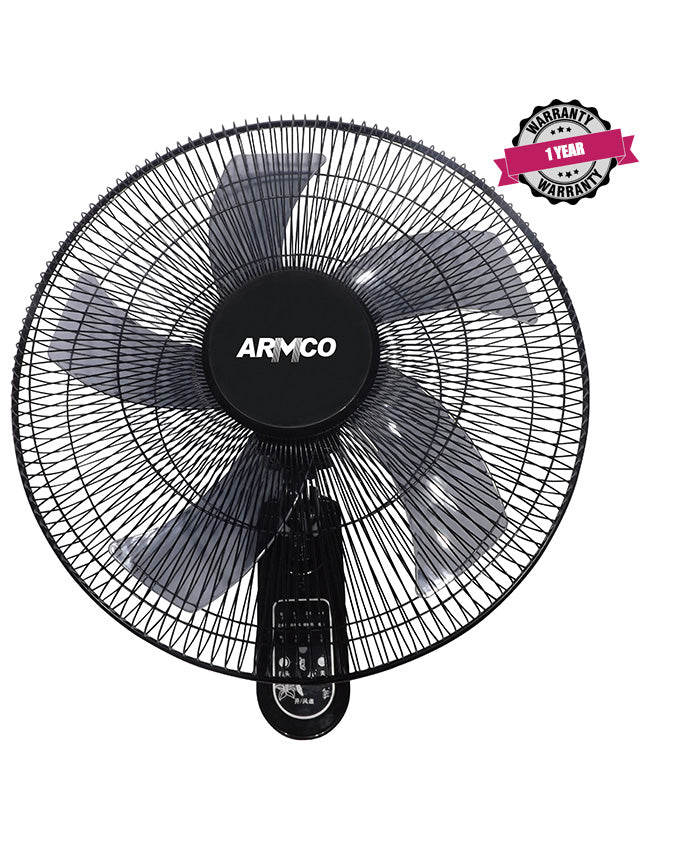 "ARMCO AFW-18BRC - 18"" Wall Fan with Remote Control."