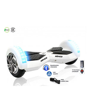 "ARMCO AHB-8B1 - 8"" Electric Hover Board, Bluetooth 4.0, 2 LED lights, Max Speed 12Km/h, Free Bag."