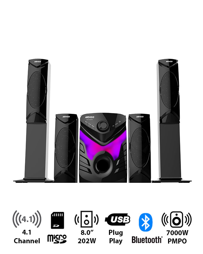 "AHT-8105 - 4.1Ch, 8.0"" Sub Woofer."