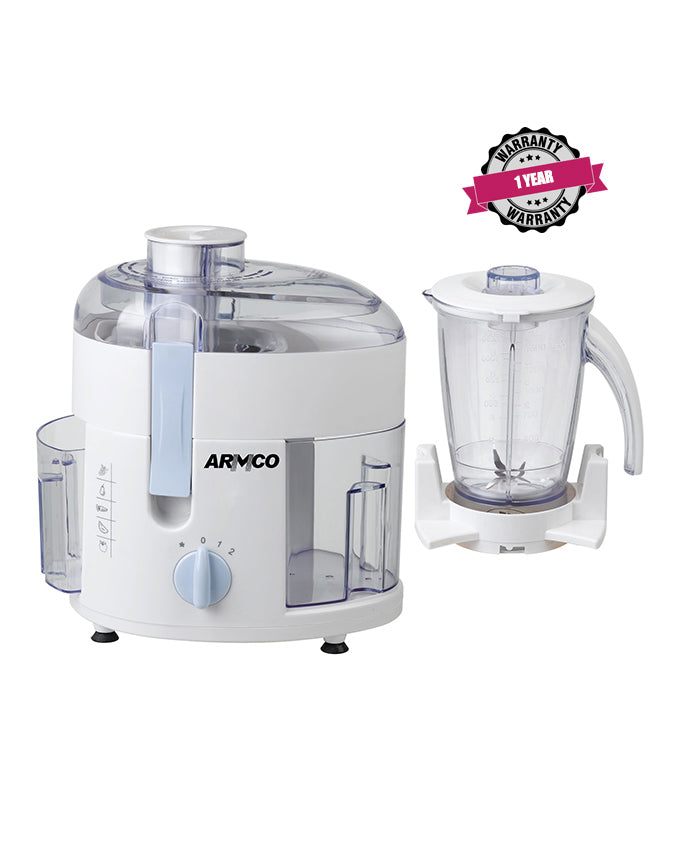 ARMCO AJB-400CG 2-in-1 Food Processor; Juicer and Blender.