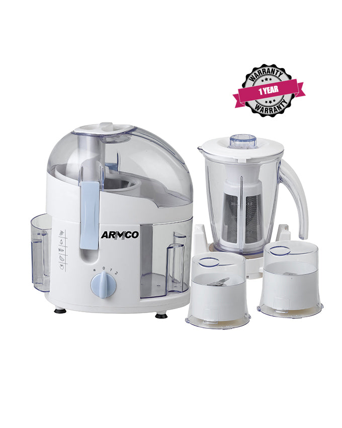 ARMCO AJB-800CG 4-in-1 Food Processor; Juicer, Blender, Grinder, Mill.