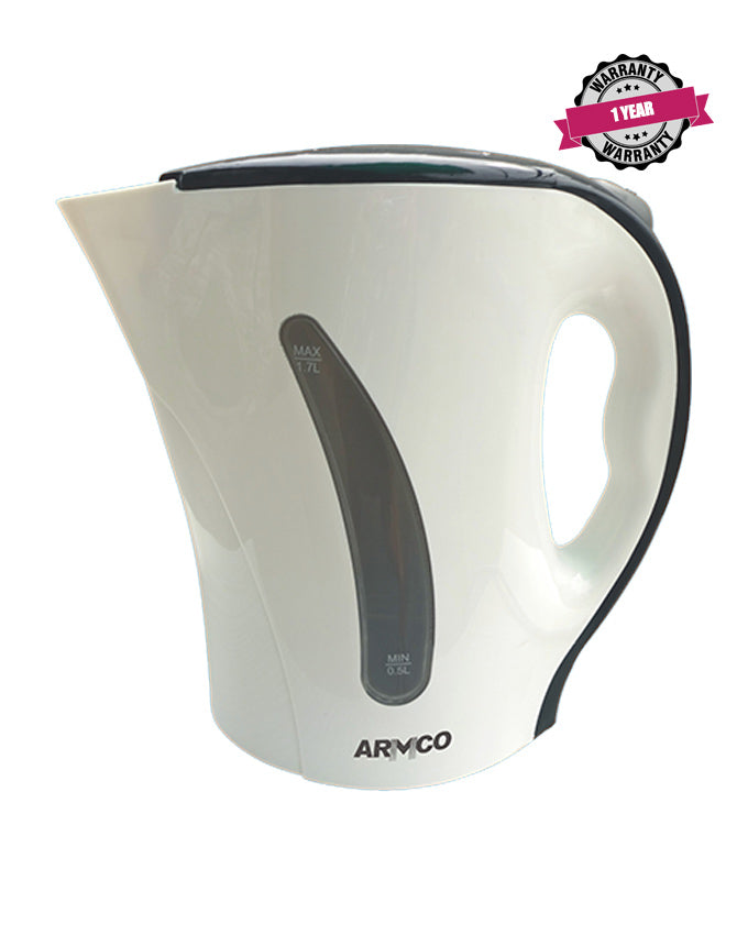 ARMCO Electric Kettle AKT-171CD(W) in Kenya 1.7L Plastic Corded Kettle, White