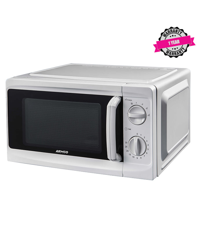 ARMCO AM-MS2023(WW) 20L Manual Microwave Oven, 700W, White.