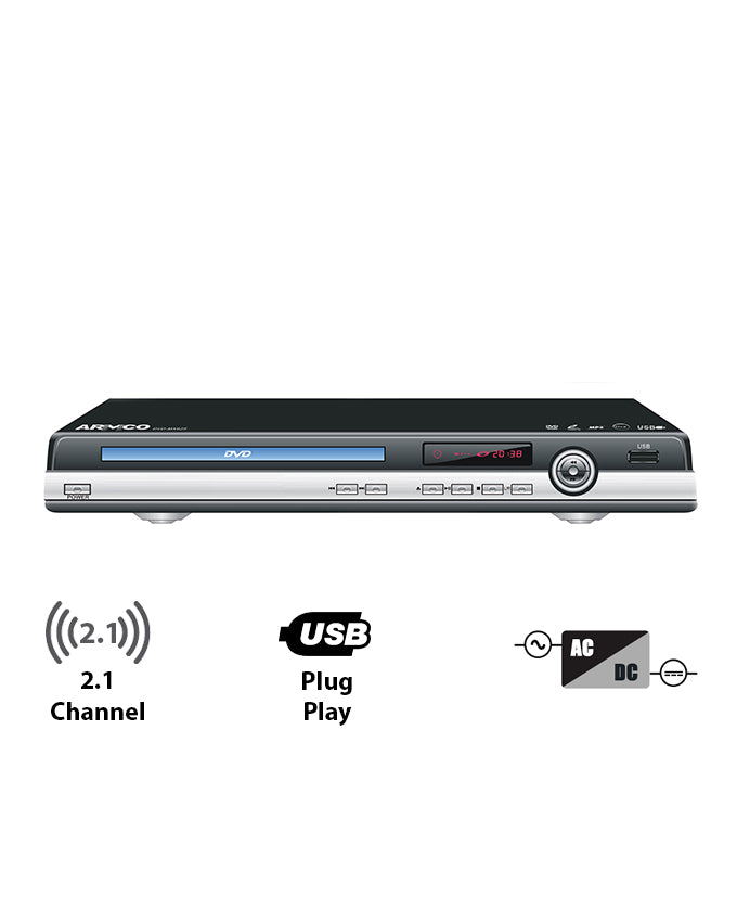 ARMCO DVD-MX625 - 2.1 Channel DVD Player, AC/DC - SD Card - USB Movies
