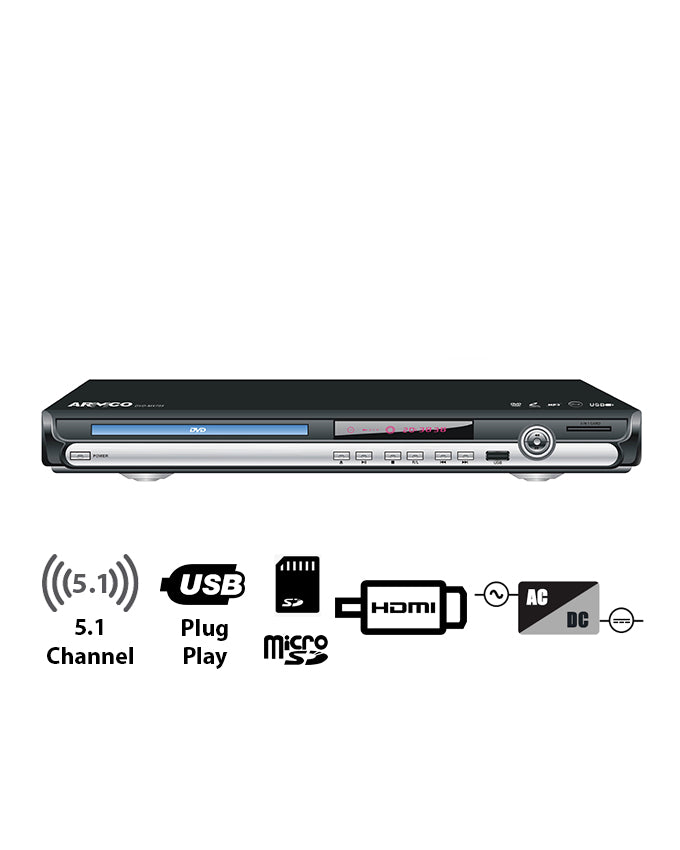 ARMCO DVD-DX755 - 5.1 Channel DVD Player.
