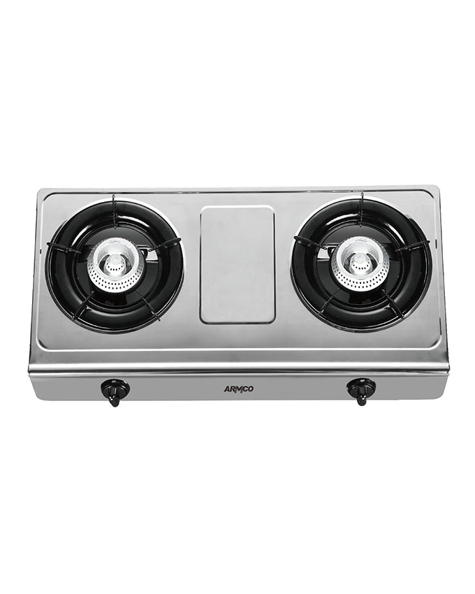 ARMCO GC-8200P3 - 2 Burner (1 x WOK) Tabletop Gas Cooker - Stainless Steel