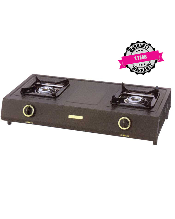 ARMCO GC-8211FP - 2 Burner (1 WOK) Fluorine Coated Tabletop Gas Cooker.