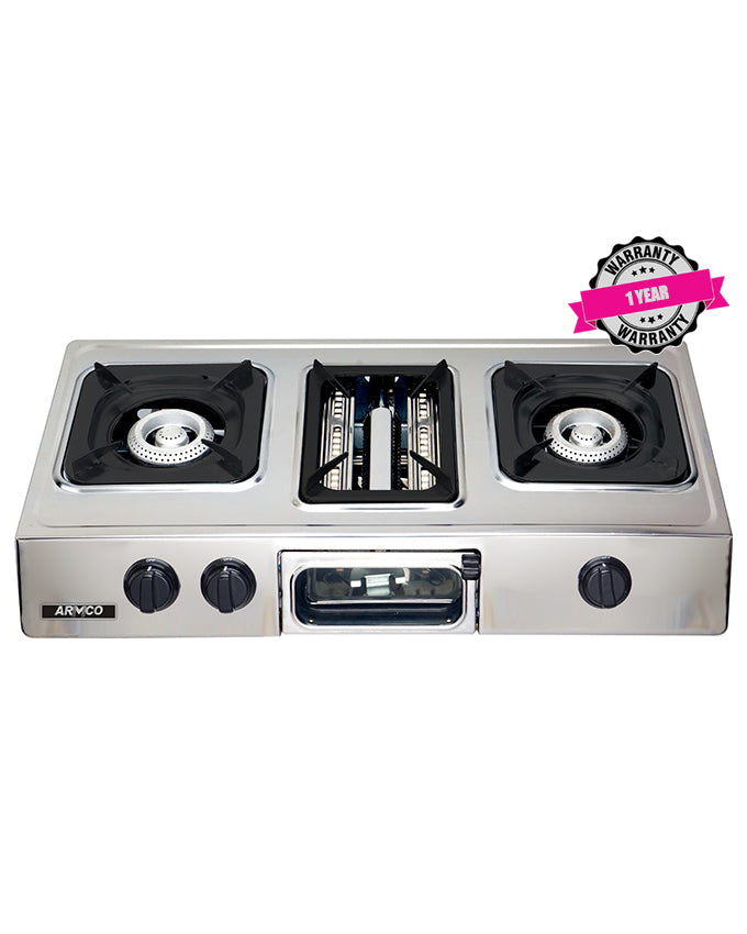 GC-8350P2 - 2 Burner Tabletop Gas Cooker - Stainless Steel