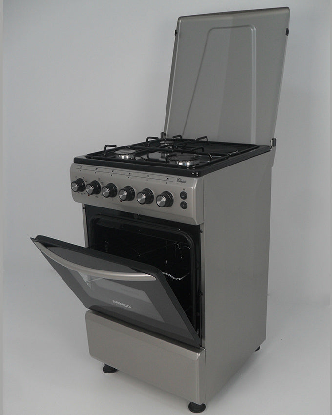 GC-F5531FX(SL) - 3Gas, 1 Electric (RAPID), 50x50 Gas Cooker - Silver