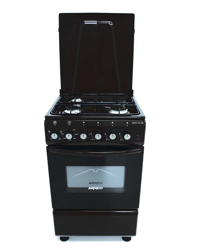 ARMCO Gas Cooker GC-F5531PX(BK) in Kenya 3 Gas, 1 Electric, 50x50 Gas Cooker, Black
