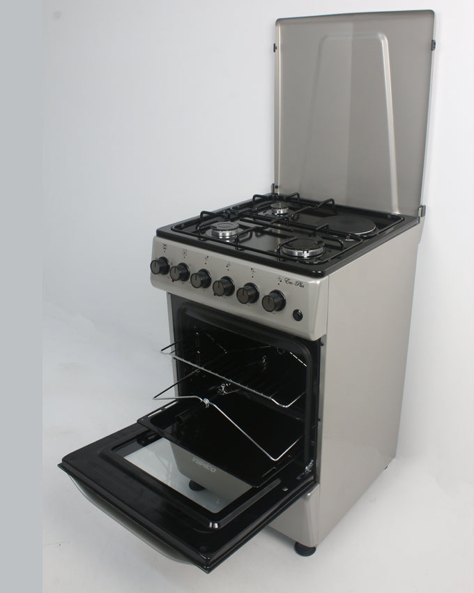 ARMCO GC-F5531PX(SL) - 3 Gas, 1 Electric, 50x50 Gas Cooker, Silver.