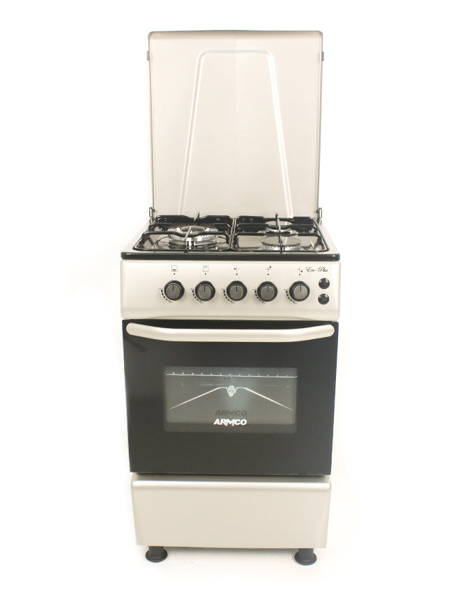 ARMCO GC-F5630PX(SL) - 3Gas (1 Large WOK), 50X60 Gas Cooker, Silver.