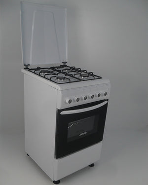 ARMCO GC-F5640PX(WW) Gas Cooker - 4 Gas, 50x60, Gas Oven, Button Ignition, Rotisserie, White.