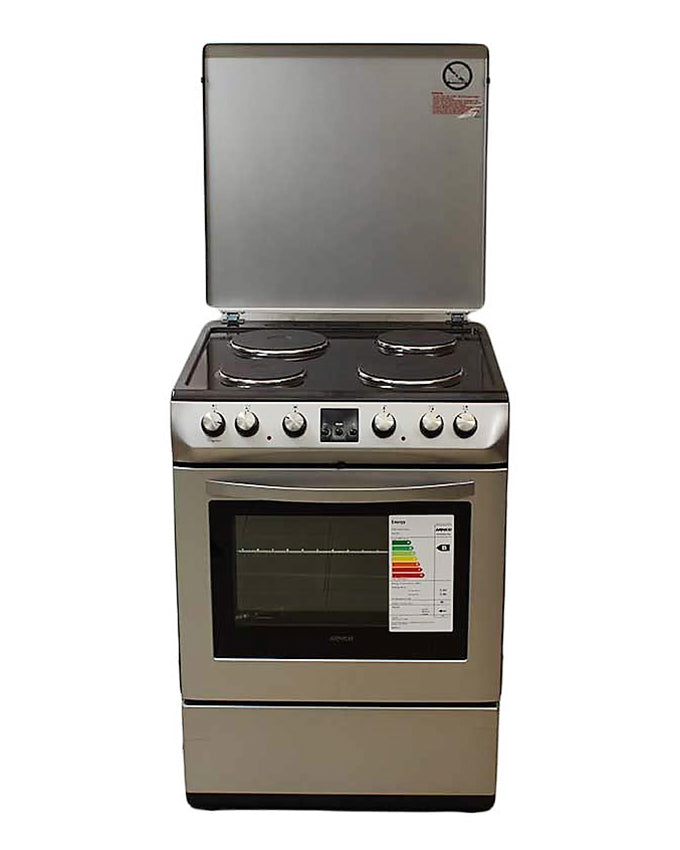 ARMCO GC-F6604LX2(SL) - 4 Electric (2 RAPID), 60X60 Electric Cooker, Silver.