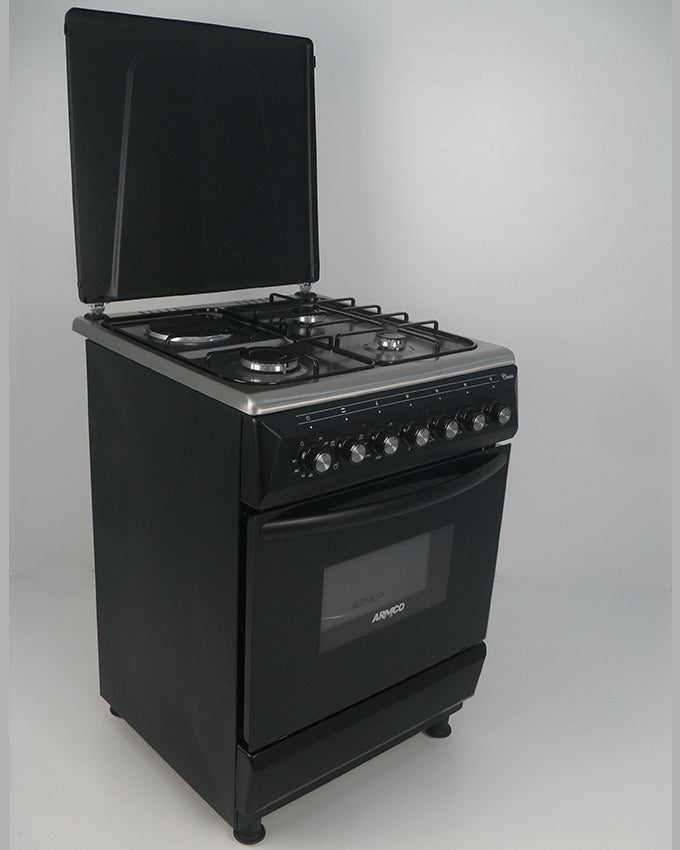 ARMCO GC-F6631FX(BK) - 3 Gas, 1 Electric, 60x60 Gas Cooker, Mechanical Timer, Black