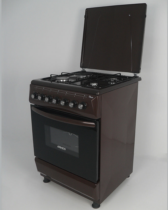 ARMCO GC-F6631FX(BR) - 3 Gas, 1 Electric, 60x60 Gas Cooker, Mechanical Timer, Brown