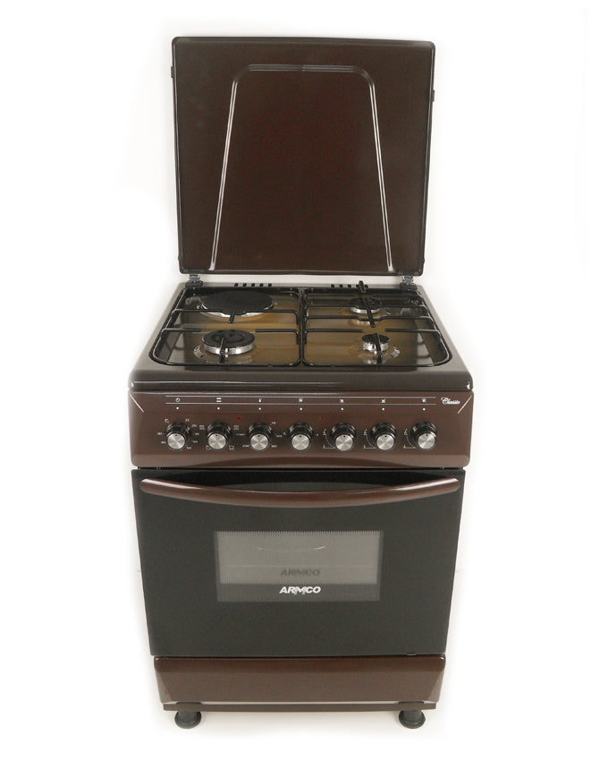 ARMCO Standing cooker GC-F6631FX(TDF) in Kenya 3 Gas, 1 Electric, 60x60 Gas Cooker, Mechanical Timer, Terre De France