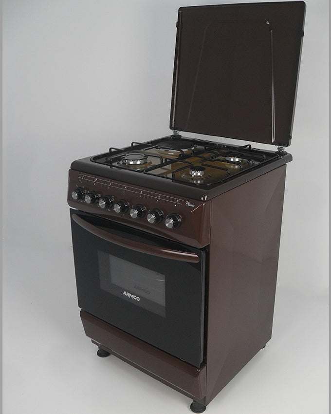 ARMCO GC-F6631FX(TDF) - 3 Gas, 1 Electric, 60x60 Gas Cooker, Mechanical Timer, Terre De France