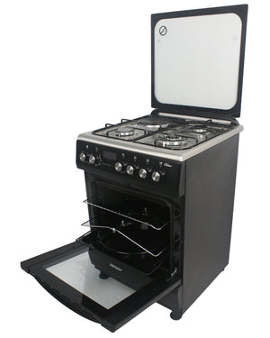ARMCO GC-F6631HX2(BK) - 3 Gas(1WOK), 1 Electric, 60x60 Gas Cooker.