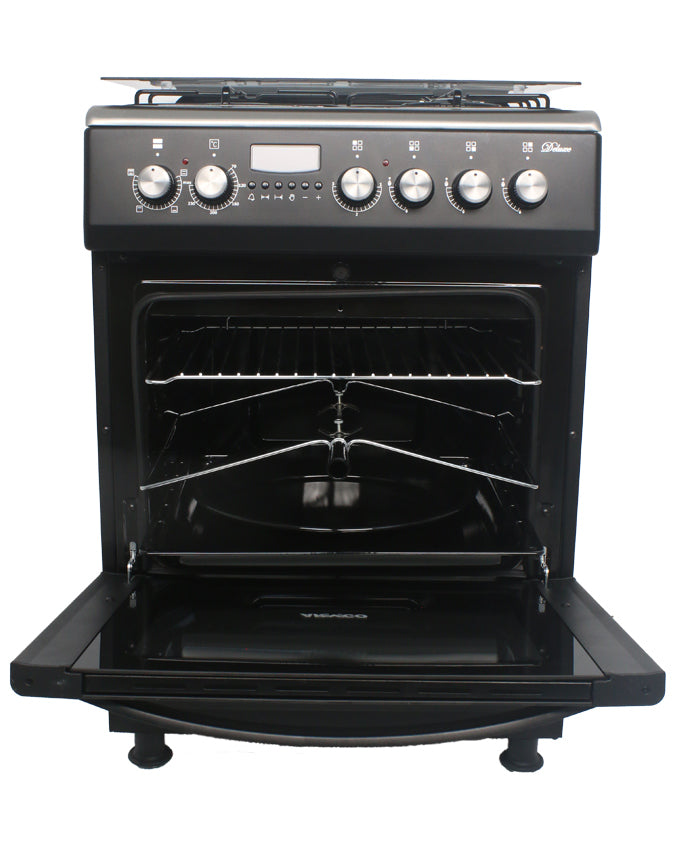 ARMCO GC-F6631HX2(BK) - 3 Multi Gas Burners (1WOK), 1 Electric, 60x60 Gas Cooker, Digital Timer.
