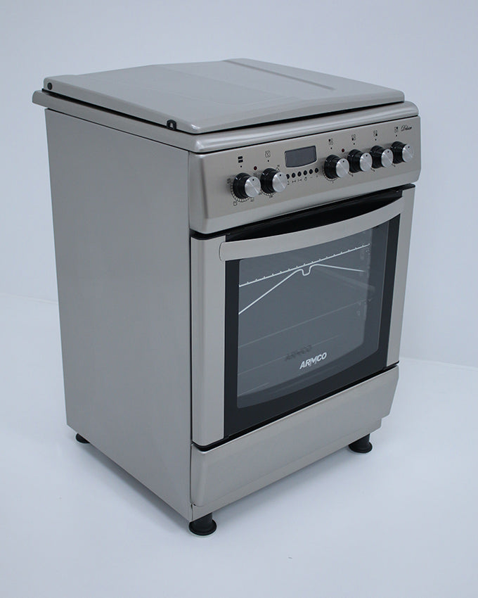 ARMCO GC-F6631HX2(SS) - 3 Gas(1WOK), 1 Electric, 60x60 Gas Cooker, Stainless Steel.