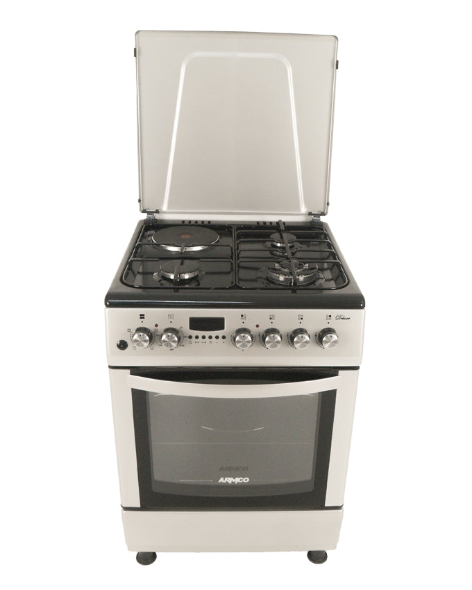 ARMCO Standing cooker GC-F6631LX2(SL) in Kenya 3 GAS (1WOK), 1 Electric, 60x60 Full Convection Oven + Grill, Digital Timer
