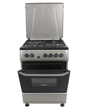 ARMCO GC-F6631PX(SL) - 3Gas, 1Electric, 60x60 Gas Cooker, Mechanical Timer, Silver.