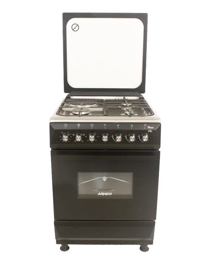 ARMCO GC-F6631QX(BK) - 3 Gas, 1 Electric, 60x60 Gas Cooker.