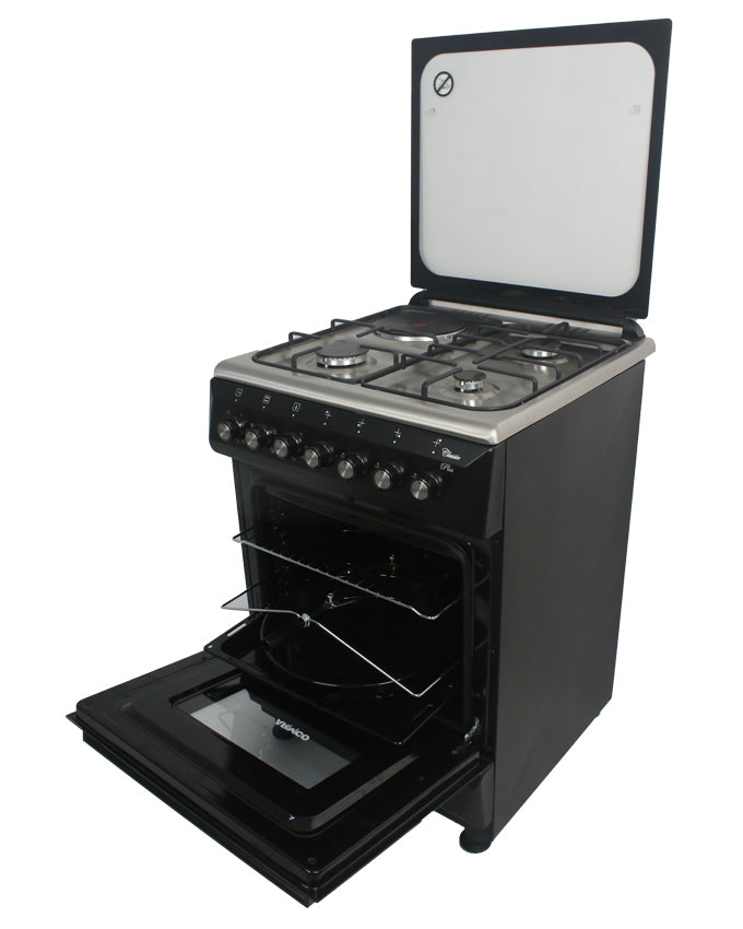ARMCO GC-F6631QX(BK) - 3 Gas, 1 Electric, 60x60 Gas Cooker, Black.