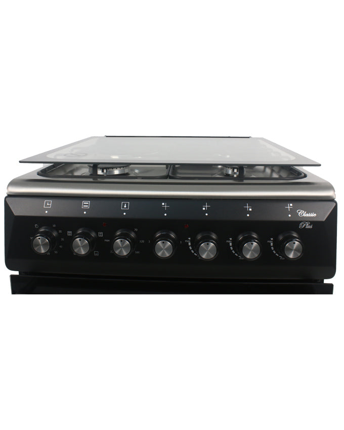 ARMCO GC-F6631QX(BK) - 3 Gas + 1 Electric, 60x60 Gas Cooker, Mechanical Timer, Tempered Glass Lid.