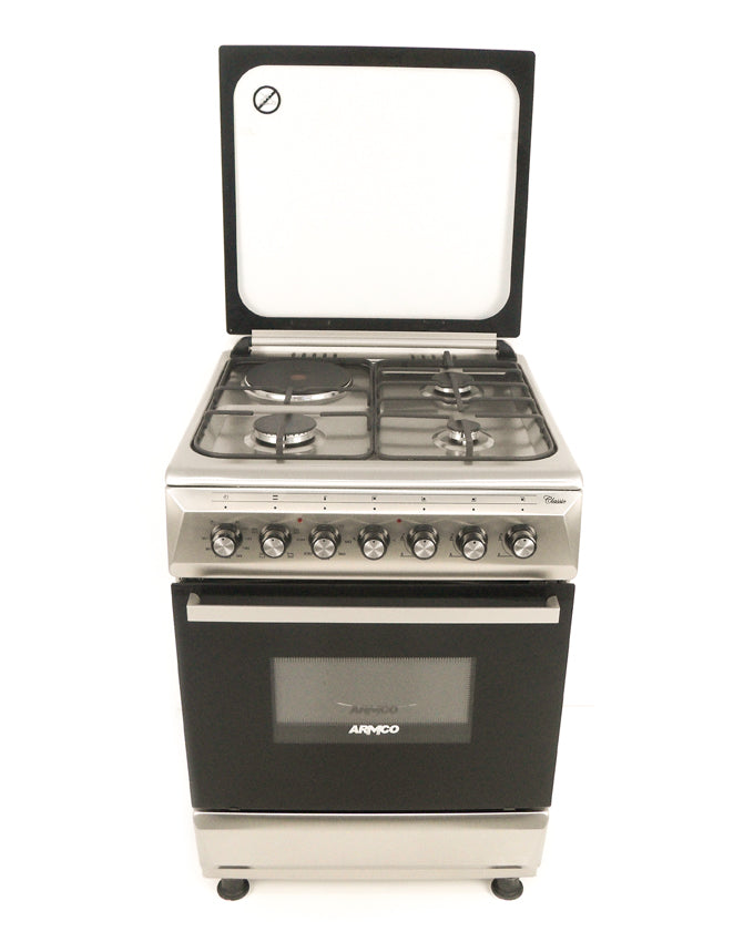 GC-F6631QX(SS) - 3 Gas, 1Electric, 60x60 Gas Cooker - Stainless Steel