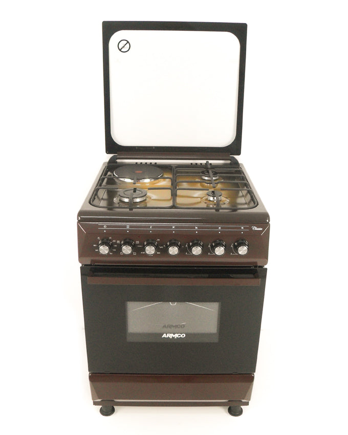 ARMCO Standing cooker GC-F6631QX(TDF) in Kenya 3 Multi Gas Burners , 1 Electric, 60x60 Gas Cooker, Mechanical Timer