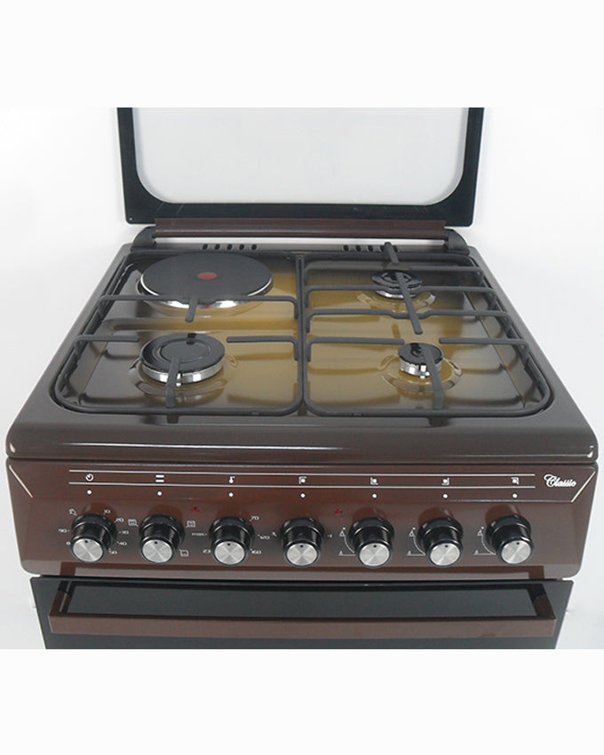 ARMCO GC-F6631QX(TDF) - 3 Multi Gas Burners , 1 Electric, 60x60 Gas Cooker, Mechanical Timer, Terre De France.
