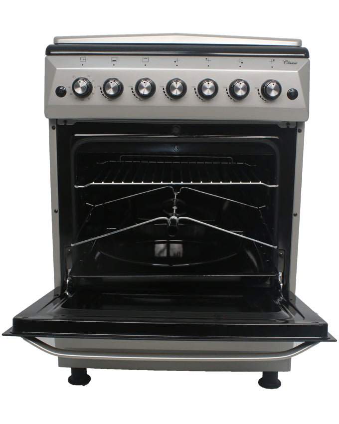 ARMCO GC-F6640FX(SL) - 4 Gas, Gas Oven/Grill, 60x60 Gas Cooker, Silver.