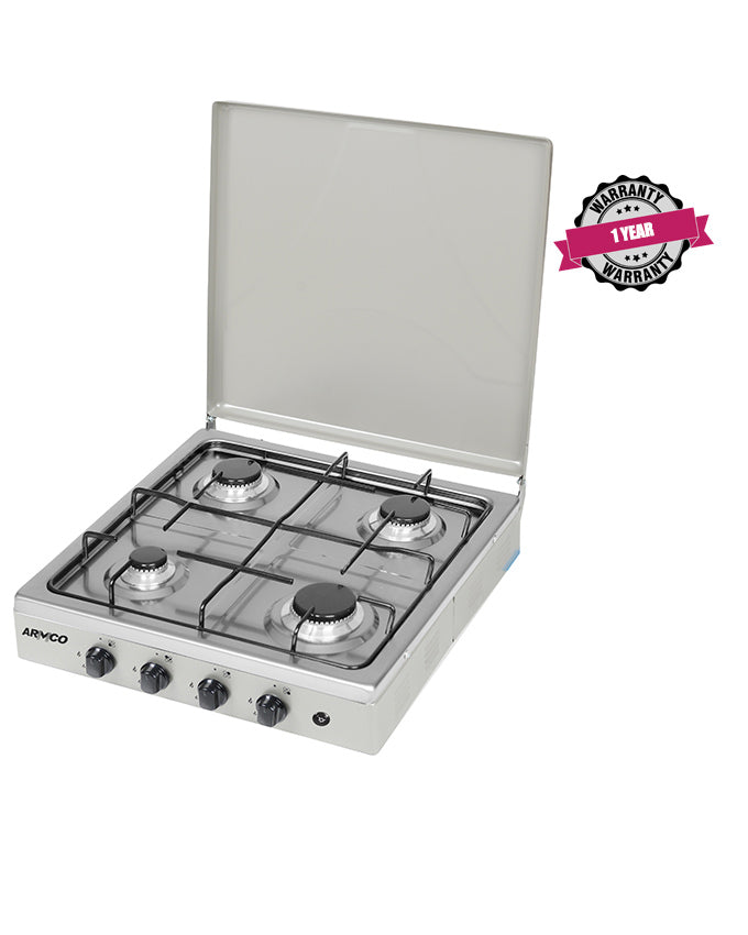 ARMCO GC-F8440GX(SS) - 4Gas, 50x50 Table Top Gas Cooker, Stainless Steel.