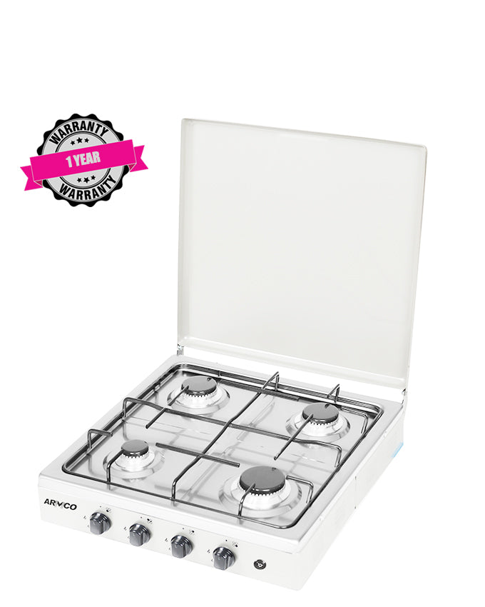 ARMCO GC-F8440GX(WW) - 4Gas, 50x50 Table Top Gas Cooker, White.