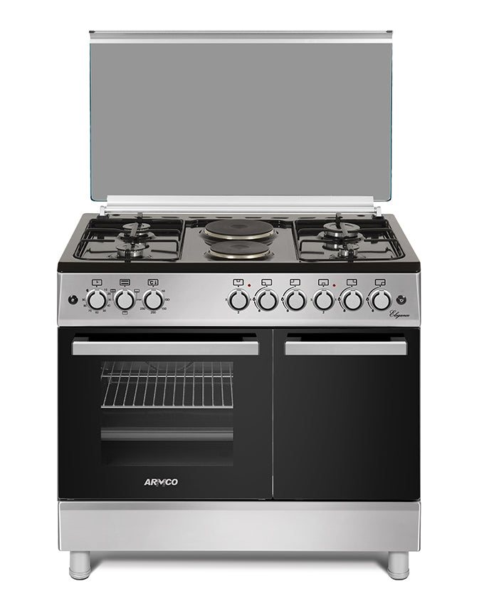 GC-F9642FBT(SL) - 4Gas, 2Electric, 60x90 Gas Cooker - Silver